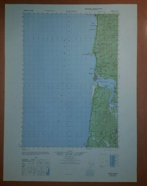 1947 Army Topographic Map Yaquina Oregon Sheet 1173 Ii Ebay