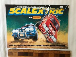 VINTAGE-1984-SCALEXTRIC-TOY-SLOT-CAR-CATALOGUE-25TH-EDITION-AMAZING-SPIDER-MAN