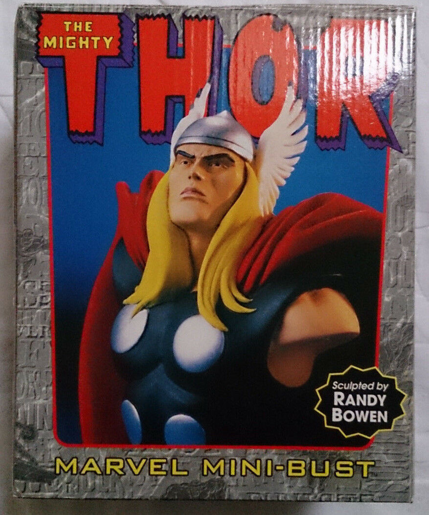 Marvel Comics Bowen Avengers The Mighty Thor mini bust statue with box rare