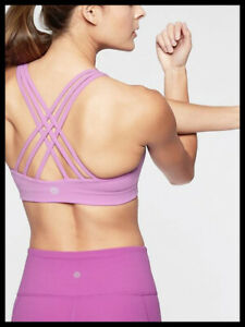 Athleta-NWT-Women-039-s-Hyper-Focused-Bra-Size-Med-Color-Violet-Blush