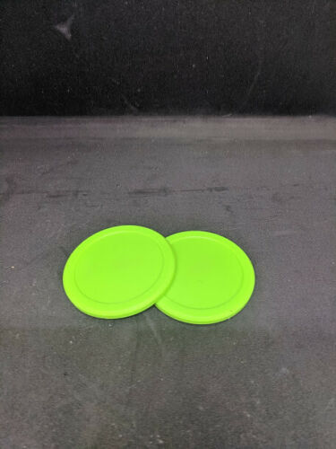 "3.25/""  Green standard puck Dynamo 2 Pack Air Hockey Pucks"