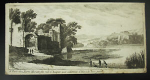Un-Painter-at-the-Edges-of-Lake-Original-Engraving-to-1700-chez-Stone-Mariette