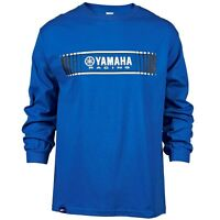 YAMAHA MEN'S TRACKS SPEED BLOCK  L/S T-SHIRT IN BLUE - SIZE X-LARGE - BRAND NEW