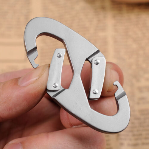 1//2//4//6 Praktische 8 förm Aluminium Karabiner Schnapp Clip Haken Verriegelungs