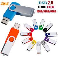 64GB USB 2.0 Swivel Metal Flash Drive Memory Stick Pen Storage Thumb U Disk LOT