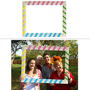 Multicolour-Selfie-Picture-Frame-Photo-Booth-Props-Wedding-Hen-Christmas-Party