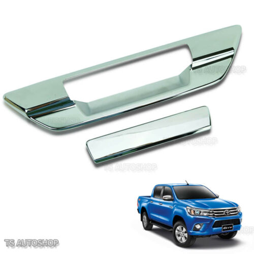Chrome Tailgate Back Door Cover Fit Toyota Hilux Revo Sr5 M70 M80 Ute Xlt 16 17