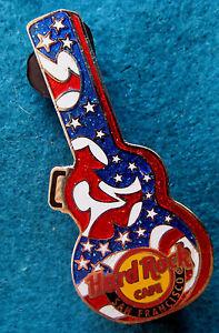 San-Francisco-Stars-amp-Rayures-Guitare-Transport-Etui-Series-Hard-Rock-Cafe-Pin
