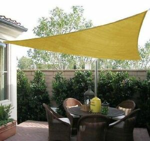 Triangle 12' Sun Shade Sail Canopy Shelter Sand