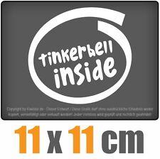 Tinkerbell inside 11 x 11 cm JDM Decal Sticker Aufkleber Racing Die Cut