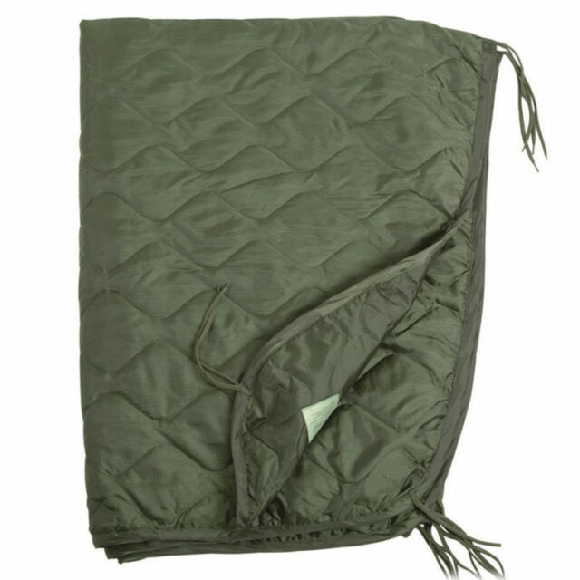 Mil-Tec US Army PONCHO LINER Travel Blanket 210 x 150 cm Olive OD Green
