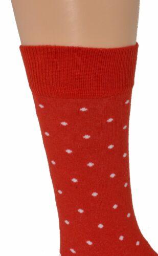 Sierra Socks Cotton Small Dot Pattern Crew Casual Women/'s 3 Pair Pack Socks W910