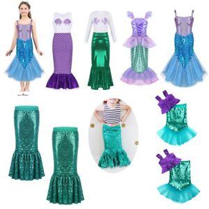 26e507d8437 Image is loading Girls-Kids-Mermaid-Princess-Dress-Cosplay-Costume -Halloween-