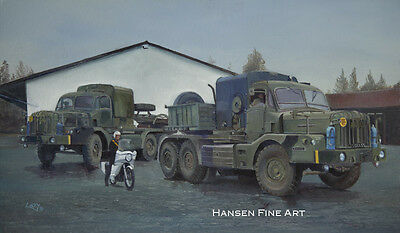 Thornycroft Antar tank transporter Fallingbostel BAOR art print