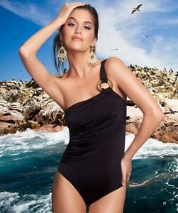 AGUACLARA Paraiso Terrenal SWIMSUIT BLACK UK S NEW