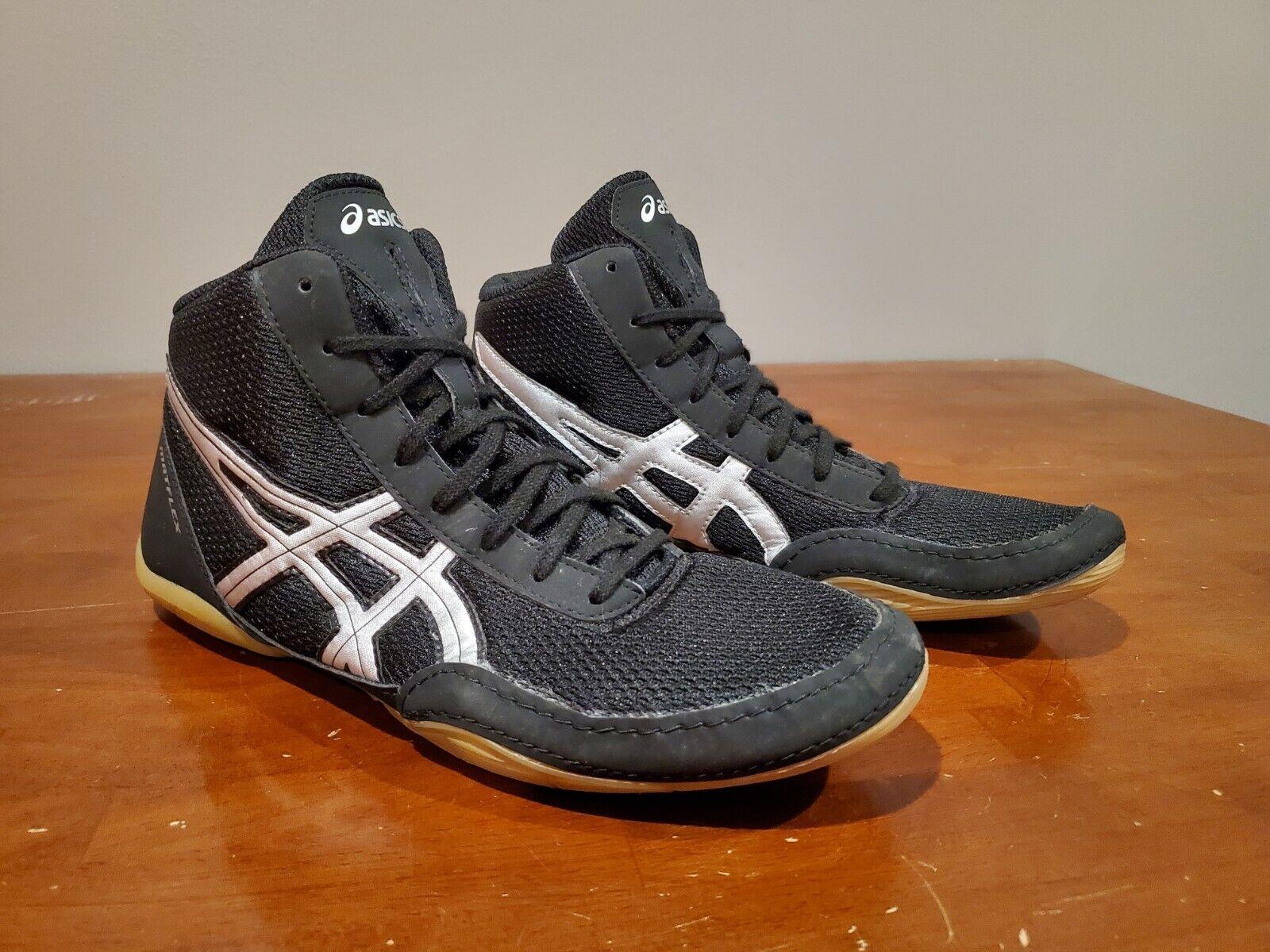 ASICS Matflex 5 Wrestling Shoes J504N 9093 Black Silver Mens Size ...