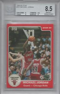 Michael Jordan Bgs 85 1984 85 Star 101 Rookie Card With Two 9 Subs