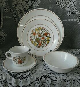 Image is loading Vintage-5-Piece-Lot-Corelle-by-Corning-Indian- & Vintage 5 Piece Lot Corelle by Corning Indian Summer Dinnerware Set ...
