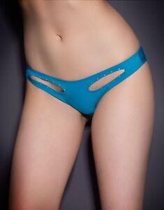 Liza Turchese piccole Slip Slip Vintage Provocateur Blu di dimensioni piccolo Stretch Agent Iqwvf7wEU