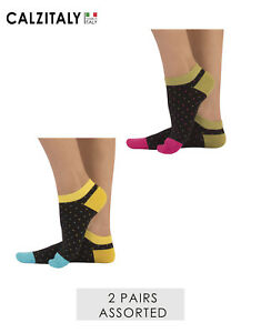6a574066b43b8 Details about 2 Pairs Unisex Cotton Socks, Funky Mini Dots Ankle Socks,  Made in Italy