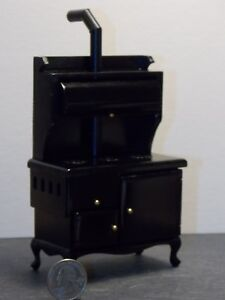 Dollhouse-Miniature-Old-Fashion-Cook-Stove-Kitchen-1-12-one-inch-scale-N51