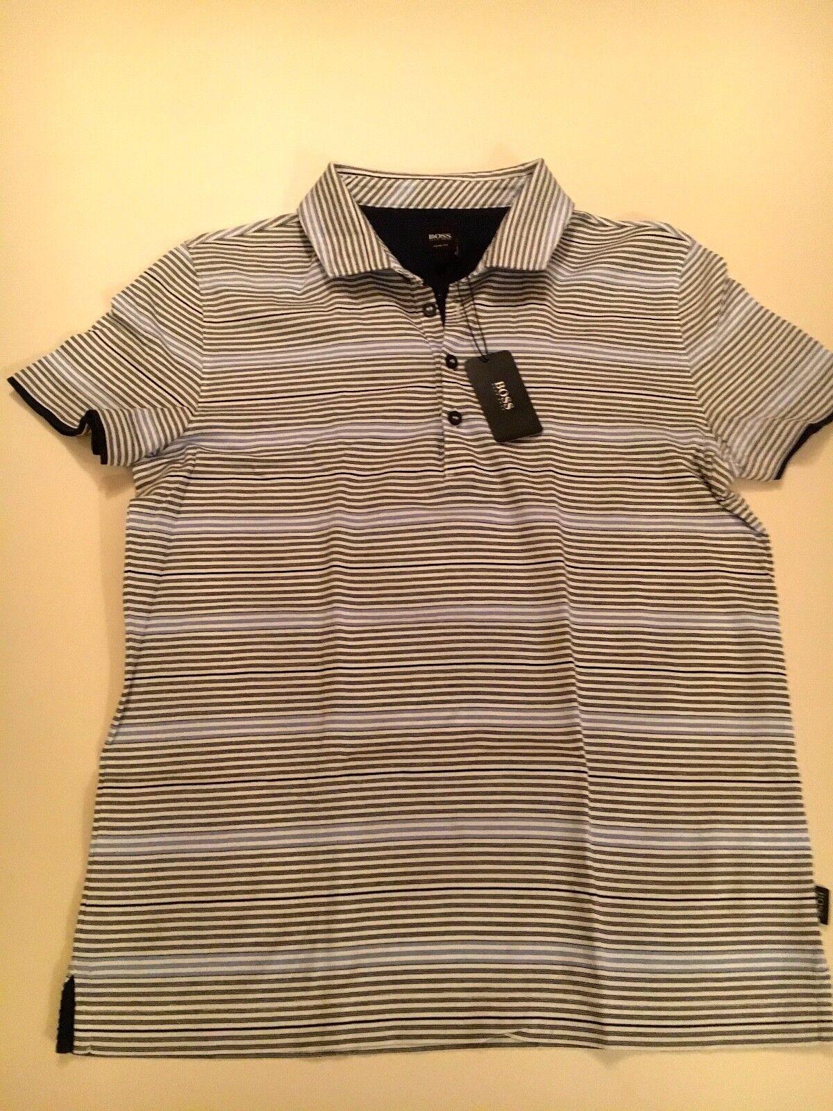 BNWT Hugo Boss Polo Shirt Taglia Taglia Shirt L Slim Fit a4dc9a