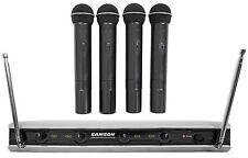 Samson Stage v466 Quad - (4) Handheld Vocal VHF Wireless Microphones Mic System