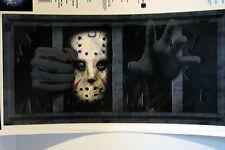 Halloween Decoration Friday The 13th Jason Voorhees Grate Wall Grabber Sticker
