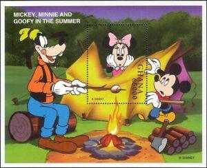 Ghana-1998-Disney-Mickey-Minnie-Goofy-fuego-de-campamento-Dibujos-Animados-animacion-1v-m-s-ad1023