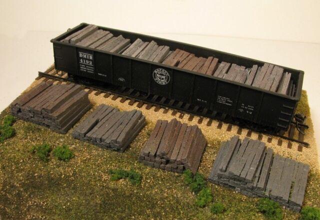 Monroe Models HO Scale Trains Scenery 2108 Weathered Resin Railroad Tie  Stacks