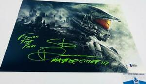 Steve-Downes-signed-Master-Chief-11X14-Metallic-photo-HALO-BAS-M62147
