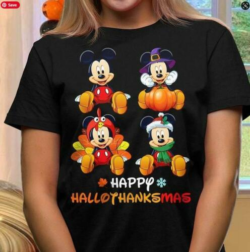 Thanksgiving Halloween Mixed Christmas Mickey Mouse Happy shirt