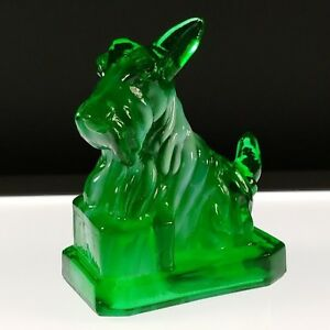 MINT-GREEN-SLAG-5-JB-Scottie-Boyd-039-s-Crystal-Art-Glass-First-Series-10-20-83-NOS
