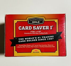 Cardboard Gold Card Saver 1-(200)Count PSA BGS SGC CGC Graded Submission Holders