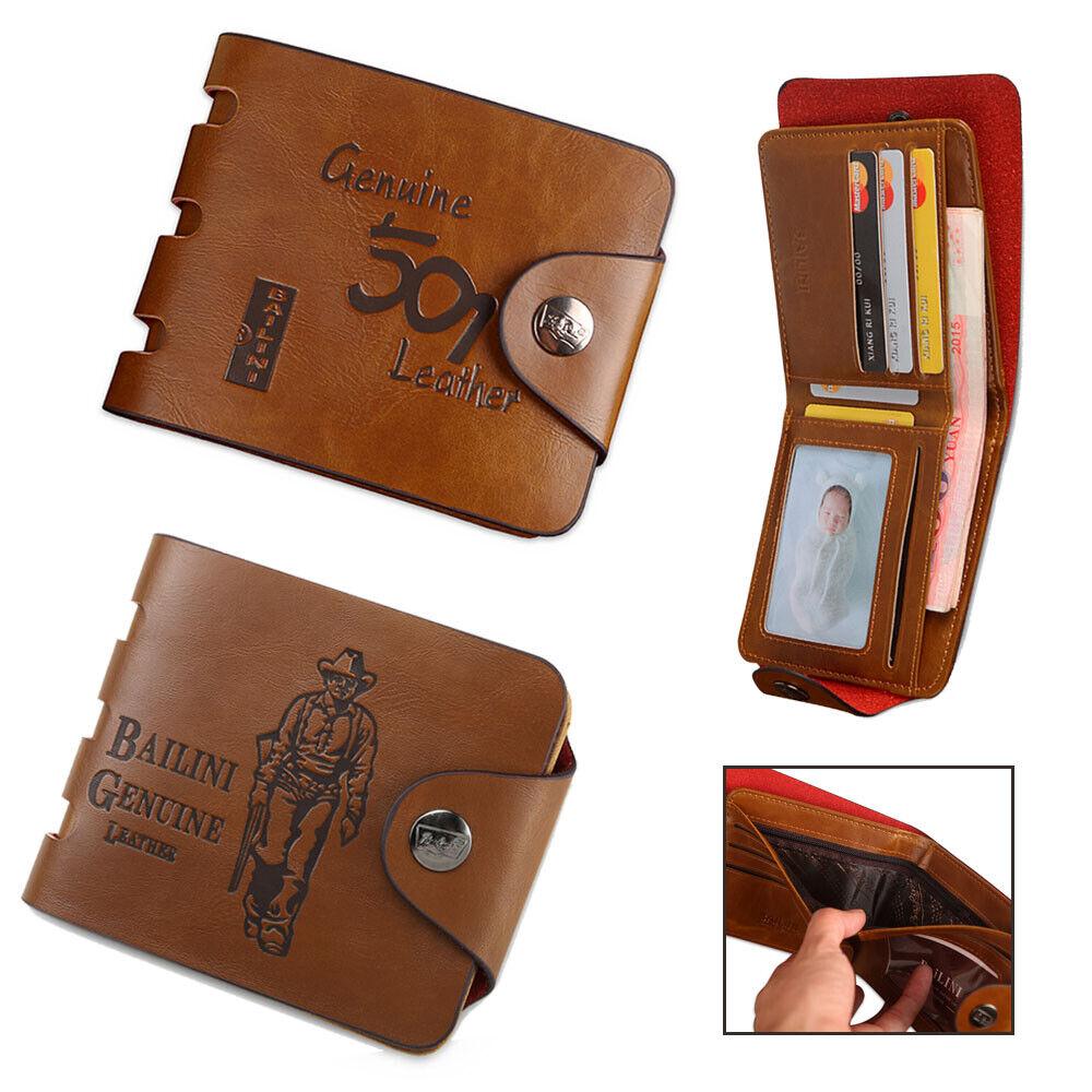Mens Womens Wallet Leather RFID SAFE Credit Card Case Holder Coin Pocket Purse