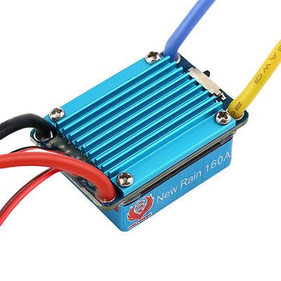 160A Waterproof Brushed Speed Controller ESC with BEC for RC Car Truck Boat 1/12