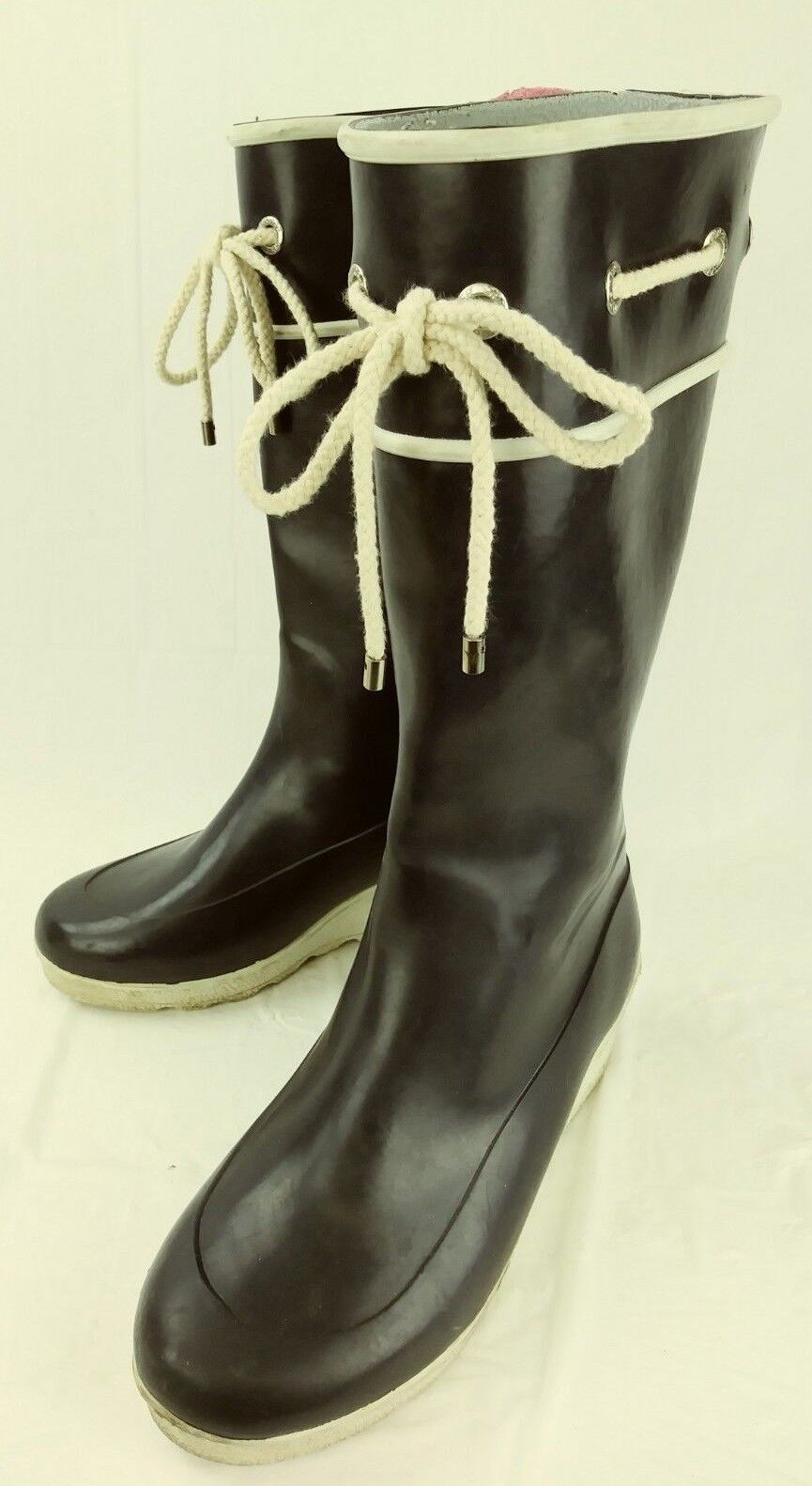 Sperry Top-Sider Wos Boots 9853797 US9 bluee White Rubber Pull On Waterproof 2730