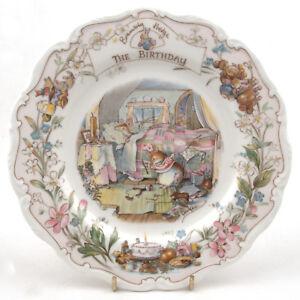 Royal-Doulton-Brambly-Hedge-Wall-Plate-The-Birthday-1987