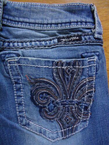 NWOT Miss Me Jeans JP5182B10 Fleur de Lis Boot Cut Size 27X34