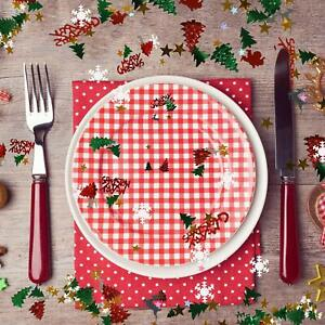 Merry-Christmas-Party-Table-Confetti-Decorations-Age-Sprinkles-Red-Green-Silver