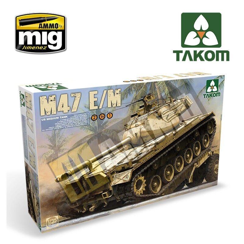 US Medium Tank M47 E M 2 in 1 1 35 Takom