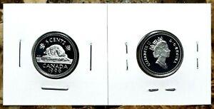 Canada-1996-Proof-Gem-UNC-Silver-Five-Cent-Nickel