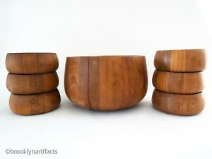 Vintage-Mid-Century-Modern-Dansk-Teak-Wood-Salad-Serving-Bowl-Set