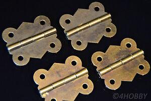 4 Mini-charnières 40mm antique pour Bijoux Coffret papillon-forme  </span>