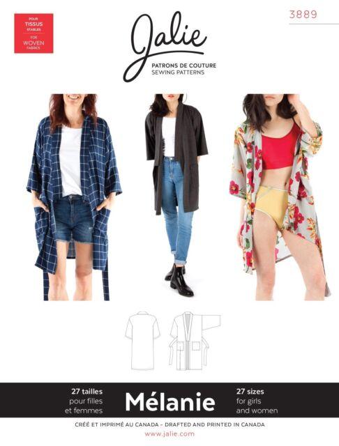 Jalie 3889 Melanie Kimono Robe Jacket or Cardigan Sewing Pattern ...