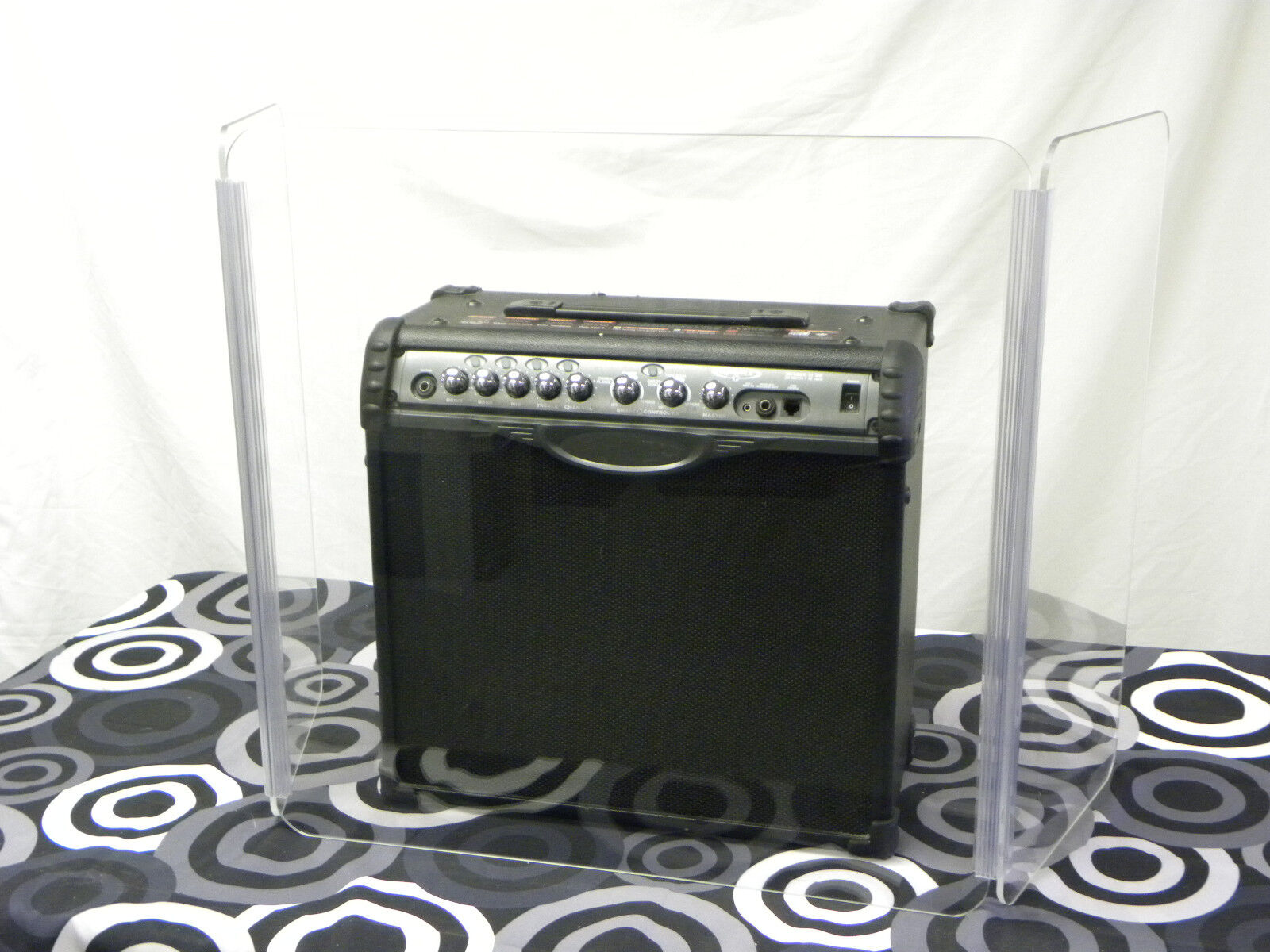 Amp Acrylic Shield 48  wide x 36  tall (Acrylic Drum Shield ) Guitar Amp