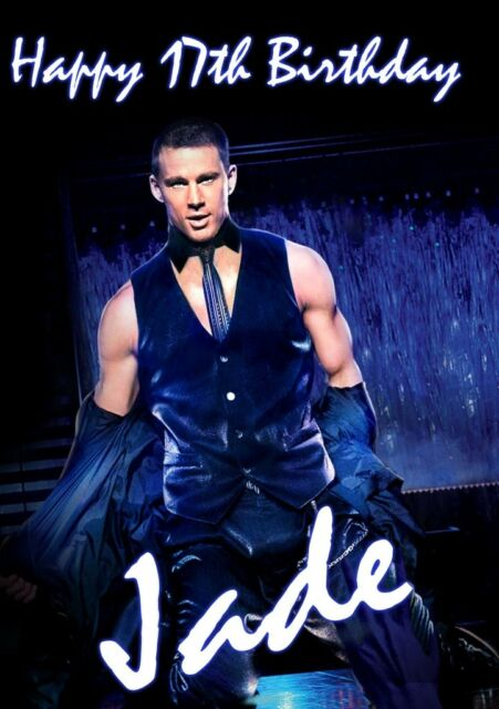 CHANNING TATUM Personalised Birthday Large A5 Christmas Card