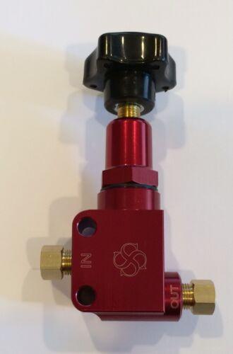 Y841 Billet Aluminum adjustable Brake proportioning valve hotrod  RED