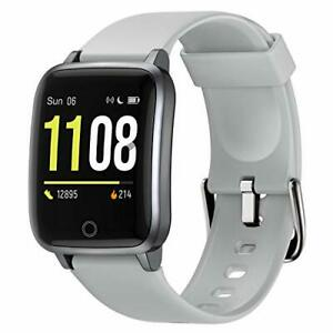 Letsfit Smart Watch, Fitness Trackers with Heart Rate Monitor, Grey (Value $30)