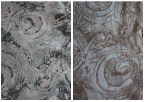 """100/% Polyester Crinkle Chiffon Printed Dress Fabric £3.99//m swirls 1.50m//60/""""wide"""